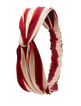 Stripe Twist Headband by Charlotte Russe