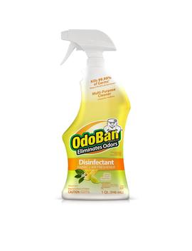 32 Oz. Ready To Use Citrus Disinfectant, Fabric And Air Freshener, Mold And Mildew Control, Multi Purpose Spray by Odo Ban
