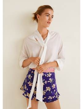 Floral Print Shorts by Mango