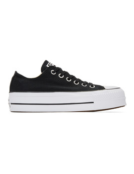 Black & White Chuck Taylor All Star Lift Sneakers by Converse
