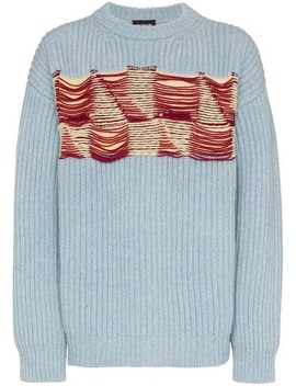 Embroidered Front Wool Jumper by Calvin Klein 205 W39nyc