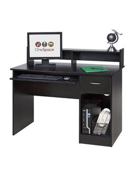 Comfort Products Essential Computer Desk, Hutch, Pull Out Keyboard, Multiple Colors by Comfort Products
