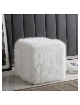 Faux Fur Pouf   Home Pop by Shop All Home Pop