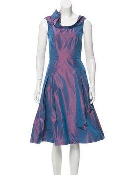 Carolina Herrera Sleeveless Metallic Midi Dress by Carolina Herrera