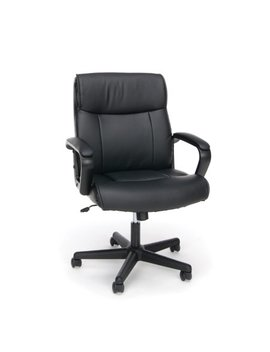Essentials By Ofm Ess 6010 Leather Executive Chair With Arms, Black by Essentials By Ofm