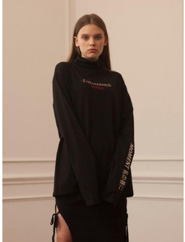 Fatallence Turtleneck T Shirts Black by Targetto