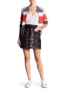 Floral Embroidered Mini Skirt by Ted Baker London