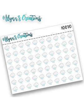 I0010, Rainy, Icons, Planner Stickers, Calendar Stickers,Matte Sticker Paper by Lulus Daisies And Co