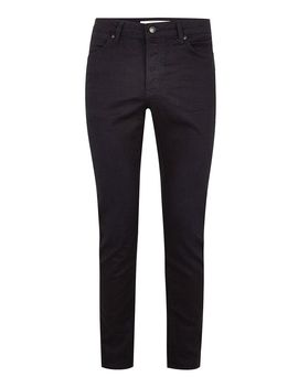 Dark Blue Coated Stretch Slim Jeans by Topman