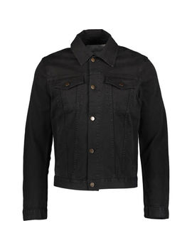 Black Denim Jacket by Pierre Balmain