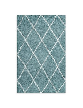 Modway Toryn Diamond Lattice Shag Area Rug by Bed Bath And Beyond