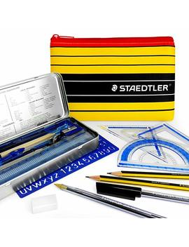 Staedtler Noris Club Pencil Case Maths Set   Essential School And College Maths Set   With Matching Staedtler Pencil Case by Staedtler   Noris Club