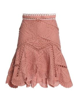 Fluted Broderie Anglaise Cotton Skirt by Zimmermann