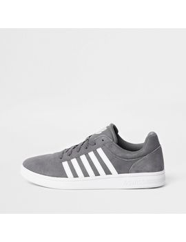 K Swiss Grey Low Top Court Runner Sneakers by River Island