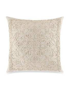 Rope Embroidered Square Throw Pillow In Natural by Bed Bath And Beyond