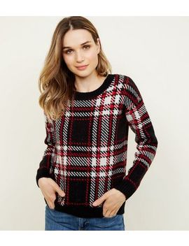 Red And Black Check Jumper by New Look