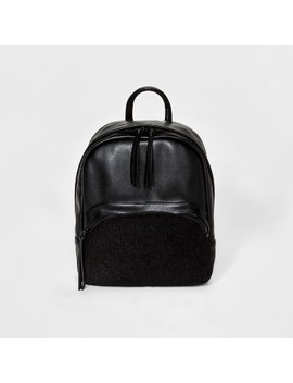 Faux Leather And Faux Fur Mini Backpack   Mossimo Supply Co.™ Black by Shop All Mossimo Supply Co.