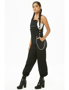 Zip Pocket Overall Joggers by Forever 21
