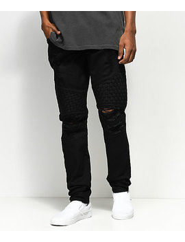 Crysp Denim Basket Woven Black Jeans by Crysp Denim