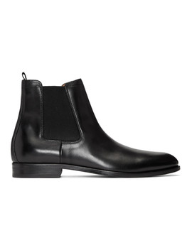 Black Cardiff Chelsea Boots by Boss