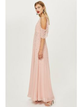 Embellished Cold Shoulder Maxi Dress by Topshop