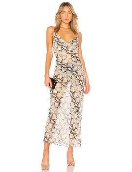 Dina Draped Maxi Dress by By The Way.