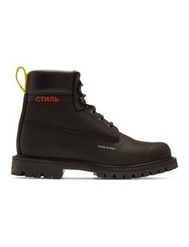 Black 'style' Boots by Heron Preston