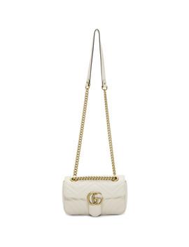 White Mini Marmont 2.0 Bag by Gucci