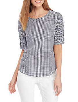 Short Sleeve Bow Sleeve Top by Crown & Ivy™
