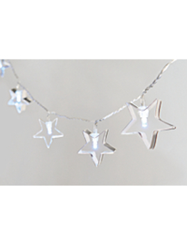 Silver Toned Star String Lights by Asda