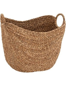 Dec Mode Woven Seagrass Basket With Braided Handles, Jute Brown by Generic