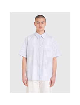 Très Bien Tourist Shirt Poplin Big Stripe White / Blue by Très Bien