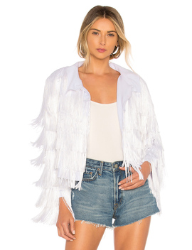 All Over Fringe Jacket by Norma Kamali
