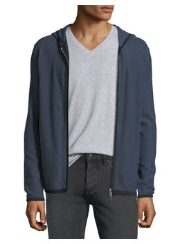 Men's Breach Grimaud Zip Front Hoodie by Theory