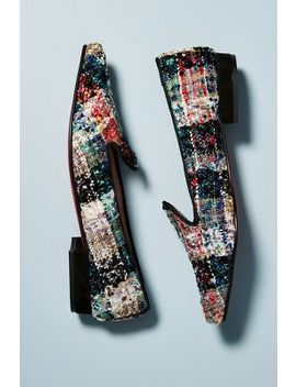 Bisue Ballerina Tweed Loafers by Anthropologie
