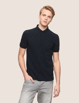 Scattered Logo Polo by Armani Exchange