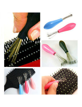 Hot New Hair Brush Comb Cleaner Cleaning Handle Embedded Home Use Tool by Unbranded