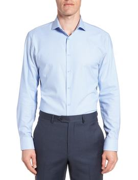 Tech Smart Trim Fit Stretch Texture Dress Shirt by Nordstrom Men's Shop
