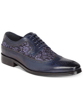 Men's Sergio Mixed Media Tweed Oxfords by Tallia