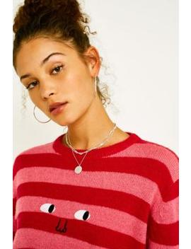 Lazy Oaf Face It Stripe Knit Jumper by Lazy Oaf