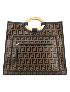 Women's Black Runway Shopping Tote by Fendi