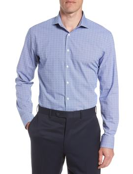 Tech Smart Trim Fit Check Dress Shirt by Nordstrom Men's Shop