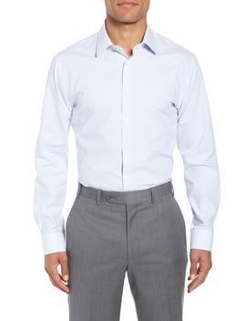 Tech Smart Trim Fit Stripe Stretch Dress Shirt by Nordstrom Men's Shop