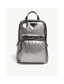 Leather Technical Backpack by Prada