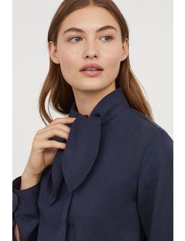 Lyocell Tie Front Blouse by H&M