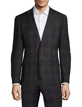 Extra Slim Fit Windowpane Sportcoat by Nhp