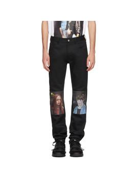 Black Christiane F. Detlef Patch Regular Jeans by Raf Simons