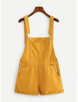 Pocket Front Denim Overalls by Shein