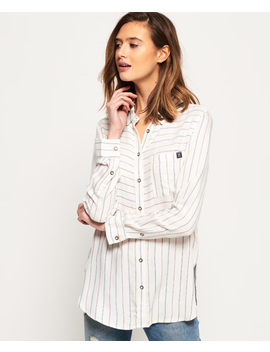 Tatum Stripe Shirt by Superdry