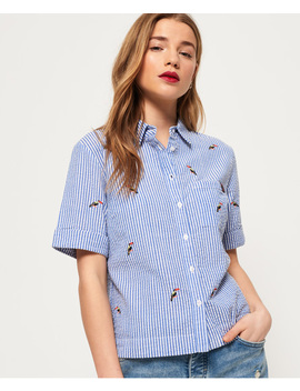 Kayla Cropped Boxy Shirt by Superdry